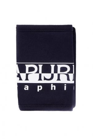 Синий кошелек с принтом Napapijri. Цвет: синий