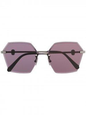 Солнцезащитные очки в массивной оправе Philipp Plein. Цвет: черный
