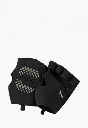 Перчатки для фитнеса PUMA TR Ess premium grip gloves. Цвет: черный