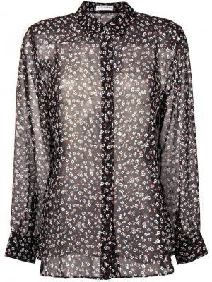 Полупрозрачная рубашка с цветочным принтом Altuzarra. Цвет: черный