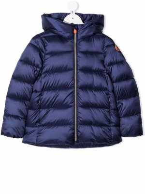 Hooded padded coat Save The Duck Kids. Цвет: синий