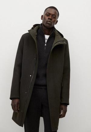 Пальто Mango Man - ILFORD2. Цвет: хаки