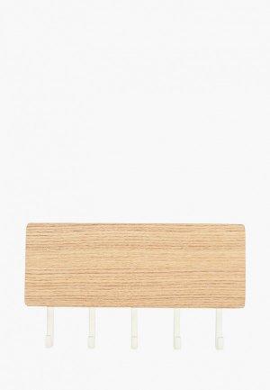 Ключница настенная Yamazaki RIN, магнитная, 18х9.5х3 см. Цвет: бежевый