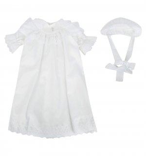 Крестильный набор платье/чепчик Ангел Мой