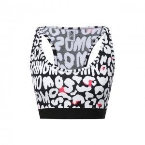 Хлопковый топ Moschino Underwear Woman. Цвет: чёрный