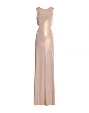Длинное платье HALSTON. Цвет: песочный
