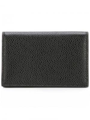 Бумажник с откидным клапаном Thom Browne. Цвет: черный