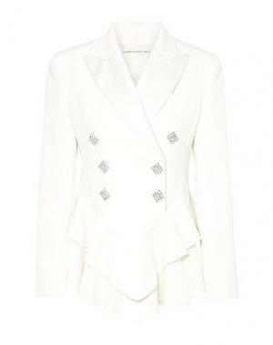Пиджак ALESSANDRA RICH. Цвет: белый