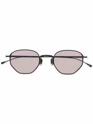 Солнцезащитные очки 784 в круглой оправе Eyevan7285. Цвет: черный