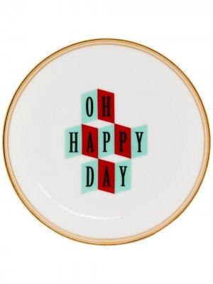 Тарелка Oh Happy Day Bitossi Home. Цвет: белый