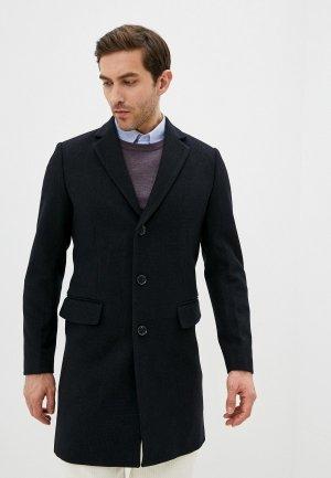 Пальто Al Franco. Цвет: синий
