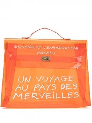 Пляжная сумка Kelly pre-owned Hermès. Цвет: оранжевый