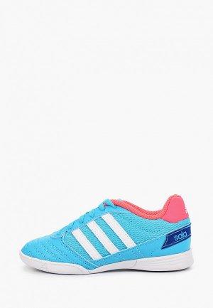 Бутсы зальные adidas. Цвет: бирюзовый