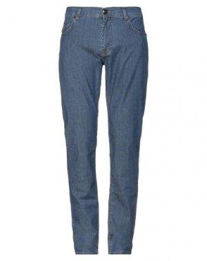 Джинсовые брюки CORNELIANI ID. Цвет: синий
