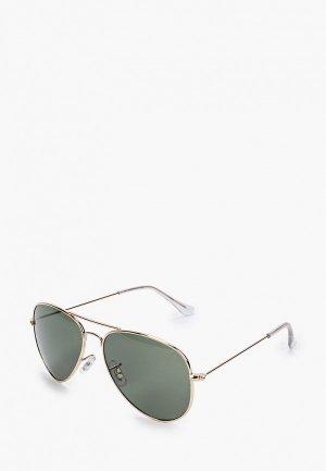 Очки солнцезащитные Jack & Jones. Цвет: золотой