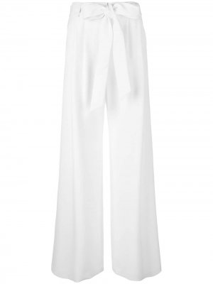 Расклешенные брюки Milly. Цвет: белый