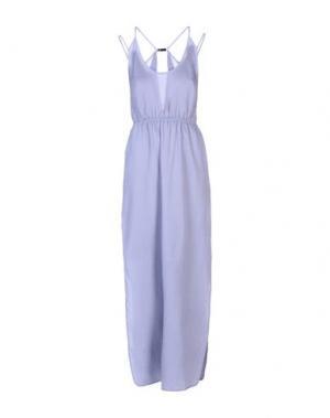 Длинное платье HALSTON HERITAGE. Цвет: сиреневый