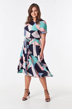 Платье миди с широкой юбкой и коротким рукавом Victoria Filippova