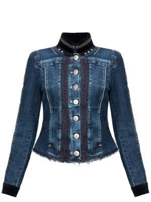 Джинсовая куртка High. Цвет: синий