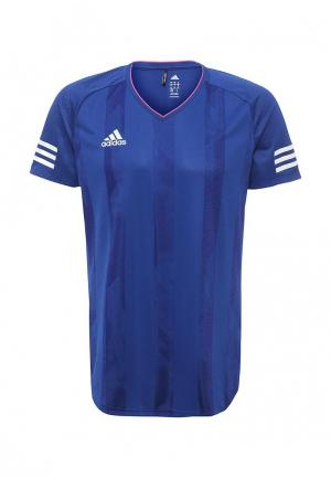 Футболка спортивная adidas TANF JSY. Цвет: синий
