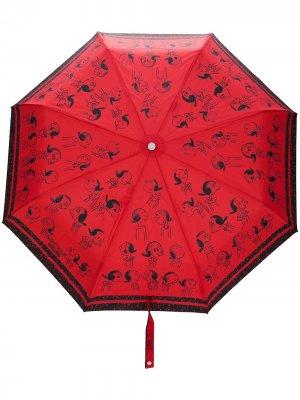Зонт с принтом Snoopy Boutique Moschino. Цвет: красный