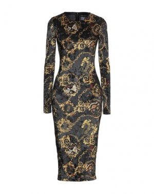 Платье миди VERSACE JEANS COUTURE. Цвет: черный