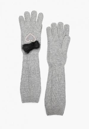 Перчатки Katomi. Цвет: серый