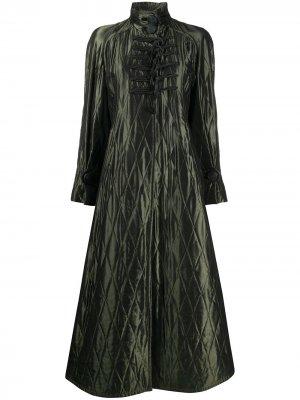 Стеганый пуховик 1990-х годов Christian Dior. Цвет: зеленый