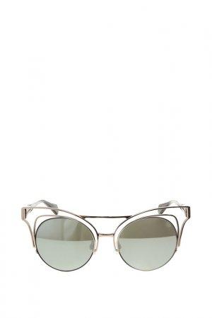 Очки солнцезащитные с линзами Vivienne Westwood. Цвет: 03 серебристый