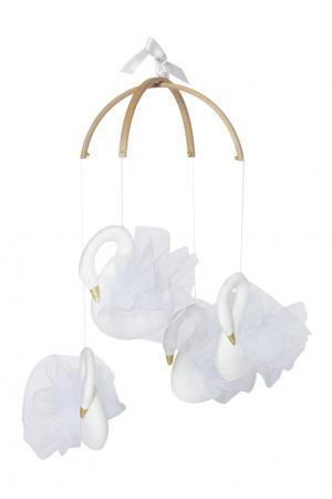 Декор для кроватки «Лебединое озеро» Moonsters. Цвет: белый