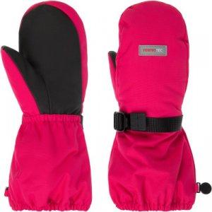 Варежки для девочек , размер 4 Reima. Цвет: розовый