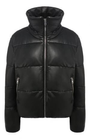 Кожаная куртка с воротником-стойкой Zadig&Voltaire. Цвет: черный