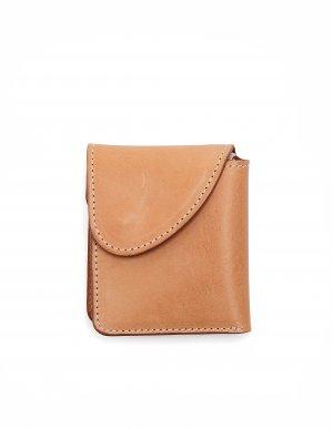 Бежевый кожаный кошелек Hender Scheme
