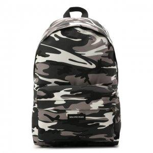 Текстильный рюкзак Explorer Balenciaga. Цвет: серый