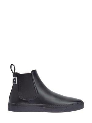 Ботинки-челси из матовой кожи с логотипом VLTN VALENTINO GARAVANI. Цвет: черный