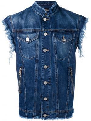 Джинсовая жилетка с рваными деталями Vivienne Westwood Anglomania. Цвет: синий