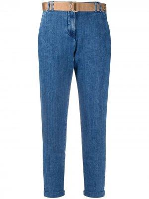 Укороченные зауженные джинсы Jacob Cohen. Цвет: синий