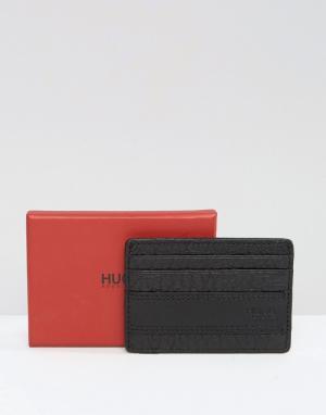 Кожаная визитница и зажим для банкнот By Hugo Boss Neoclassic. Цвет: черный