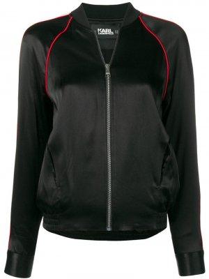 Куртка-бомбер Karl Lagerfeld. Цвет: черный