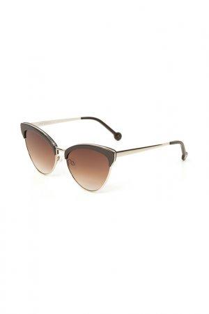 Очки солнцезащитные Enni Marco. Цвет: коричневый, коричневый