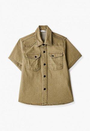 Рубашка джинсовая DeFacto. Цвет: хаки