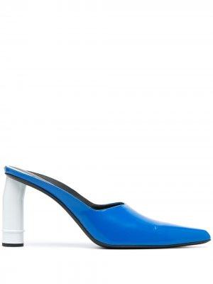 Мюли на контрастном каблуке Nina Ricci. Цвет: синий
