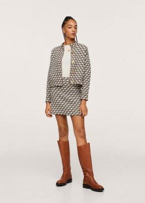Фактурная мини-юбка из трикотажа - Pillow Mango. Цвет: песочный