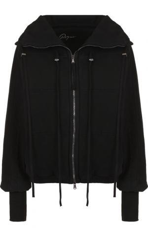 Хлопковая куртка с воротником-стойкой Roque. Цвет: черный