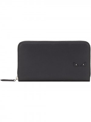 Бумажник на молнии Fendi. Цвет: черный