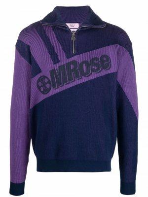 Пуловер с логотипом Martine Rose. Цвет: синий