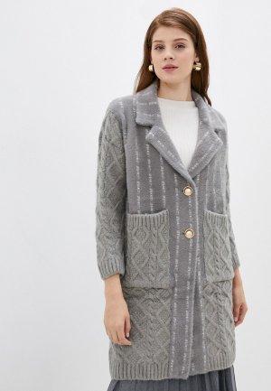 Пальто Elsi. Цвет: серый