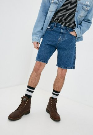 Шорты джинсовые GCDS. Цвет: синий