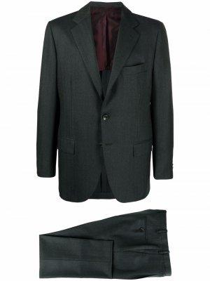 Костюм с однобортным пиджаком Kiton. Цвет: зеленый