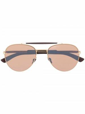 Солнцезащитные очки-авиаторы Sloe Mykita. Цвет: золотистый